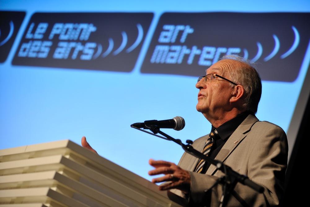 Le 29 avril 2009, forum Le point des arts sur le thème du soutien des arts aux collectivités locales, à Oslo, en Norvège.