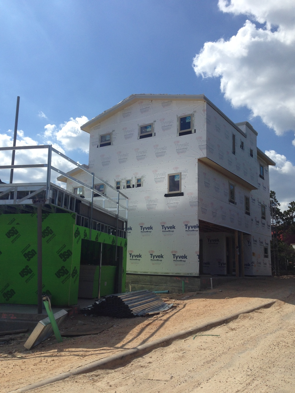 Unit 1 is almost ready for its stucco and stone!