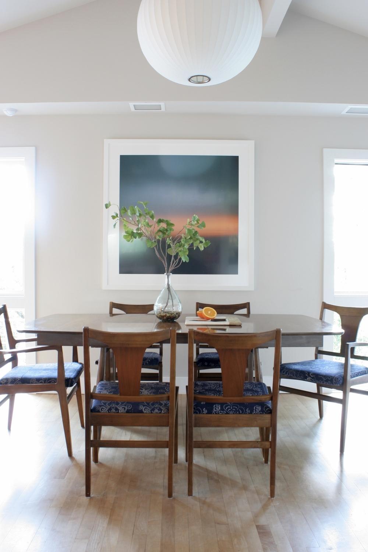Mid Century Boho Dining Room