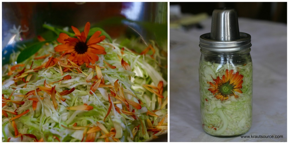 Beautify your sauerkraut with the vibrant, happy hue of marigold flowers!
