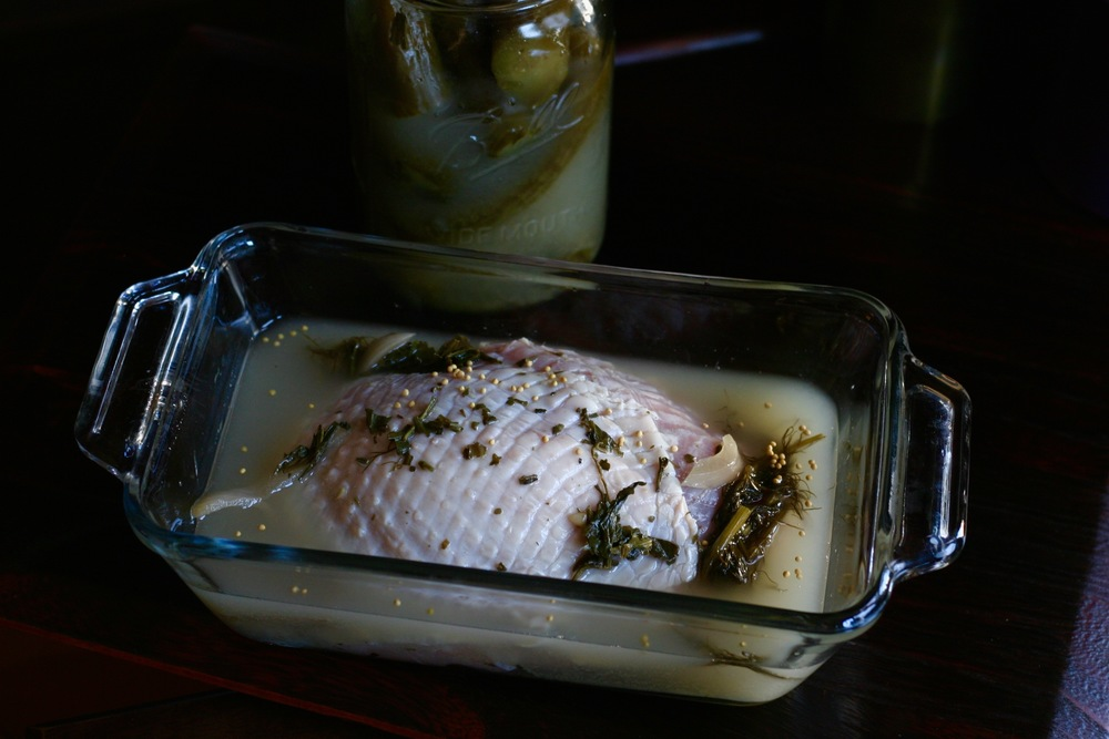 Marinade turkey breast in Real Pickles brine for 24 - 36 hours.
