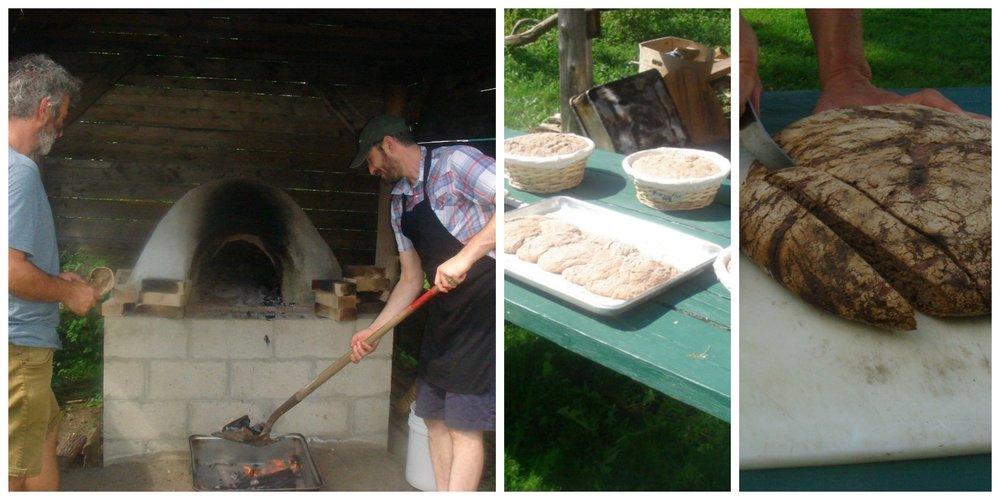 Preparing oven for baking sourdough breads.