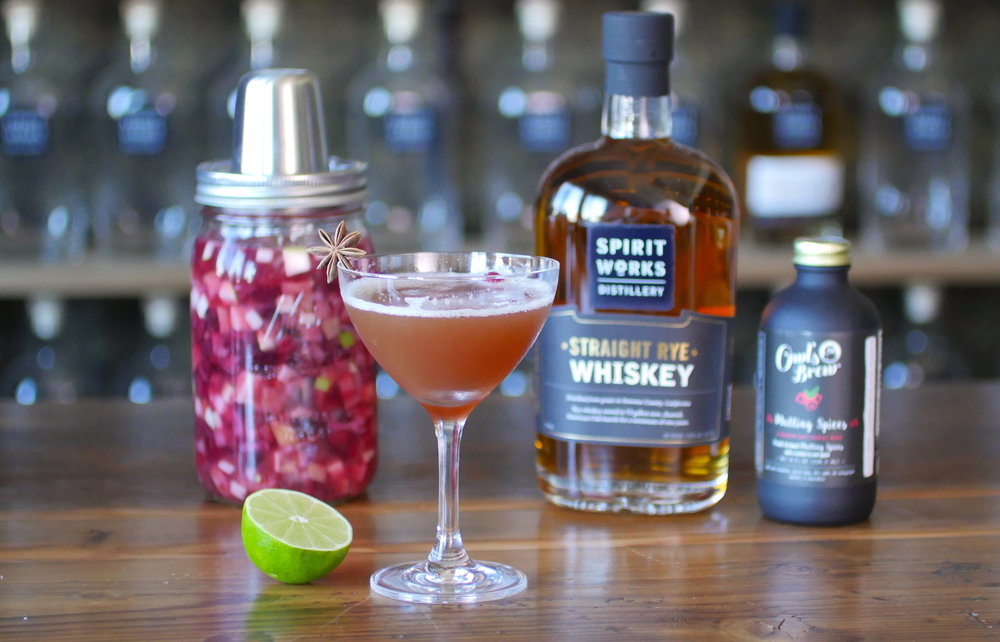 Cultured Cran-Apple Spiced Cocktail