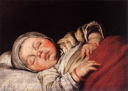 Sleeping Child by Bernardo Strozzi/WikiMedia Commons