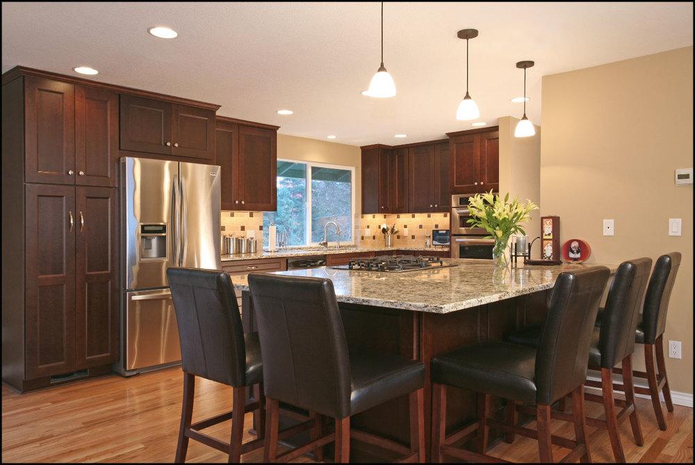 Greenke kitchen remodel beaverton david e benner fine for Quad level home remodel