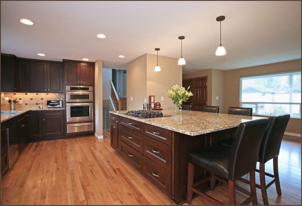 Greenke kitchen remodel beaverton david e benner fine for Tri level kitchen remodel