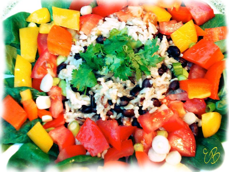 Wild rice, beans, veggies