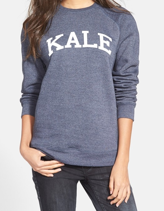 Shop this Kale sweatshirt here.
