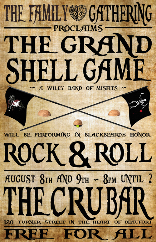 The Cru Bar - Beaufort, NC - 8/8 and 8/9, 2014