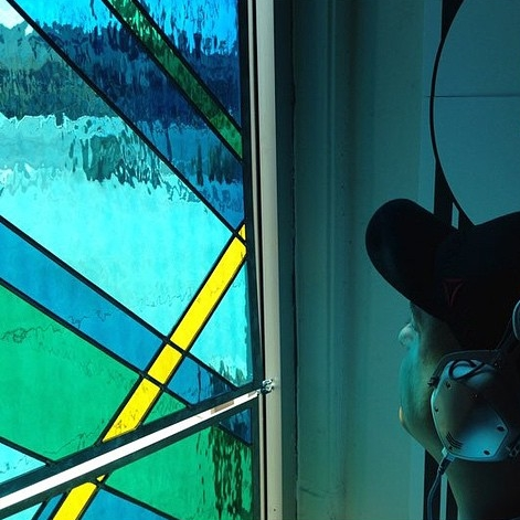 Debbie Bean Stained Glass Installation14.jpg