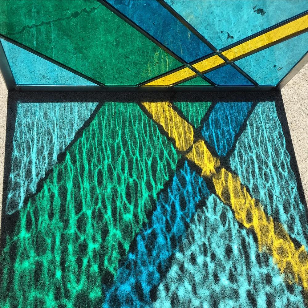 Debbie Bean Stained Glass Installation21.JPG