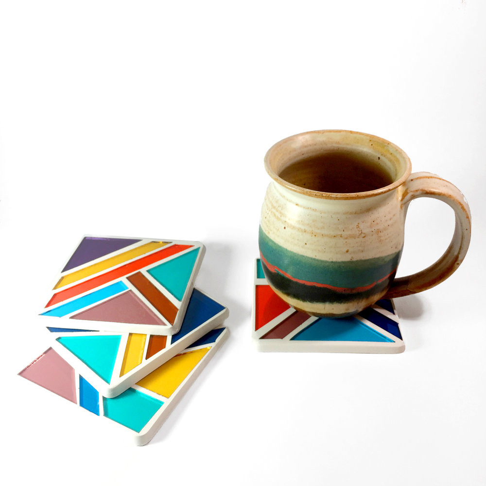 DEBBIE BEAN STAINED GLASS COASTERS