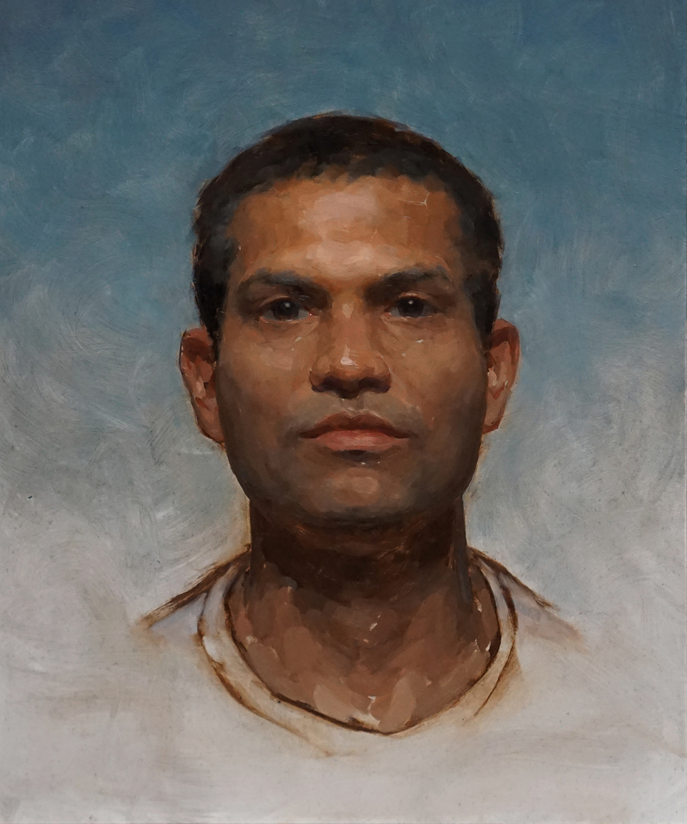 Nik,  oil on board