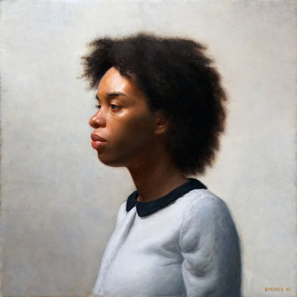 Keshia in profile,  oil on canvas