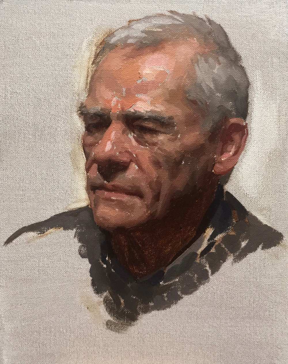 Michel,  oil on canvas on panel
