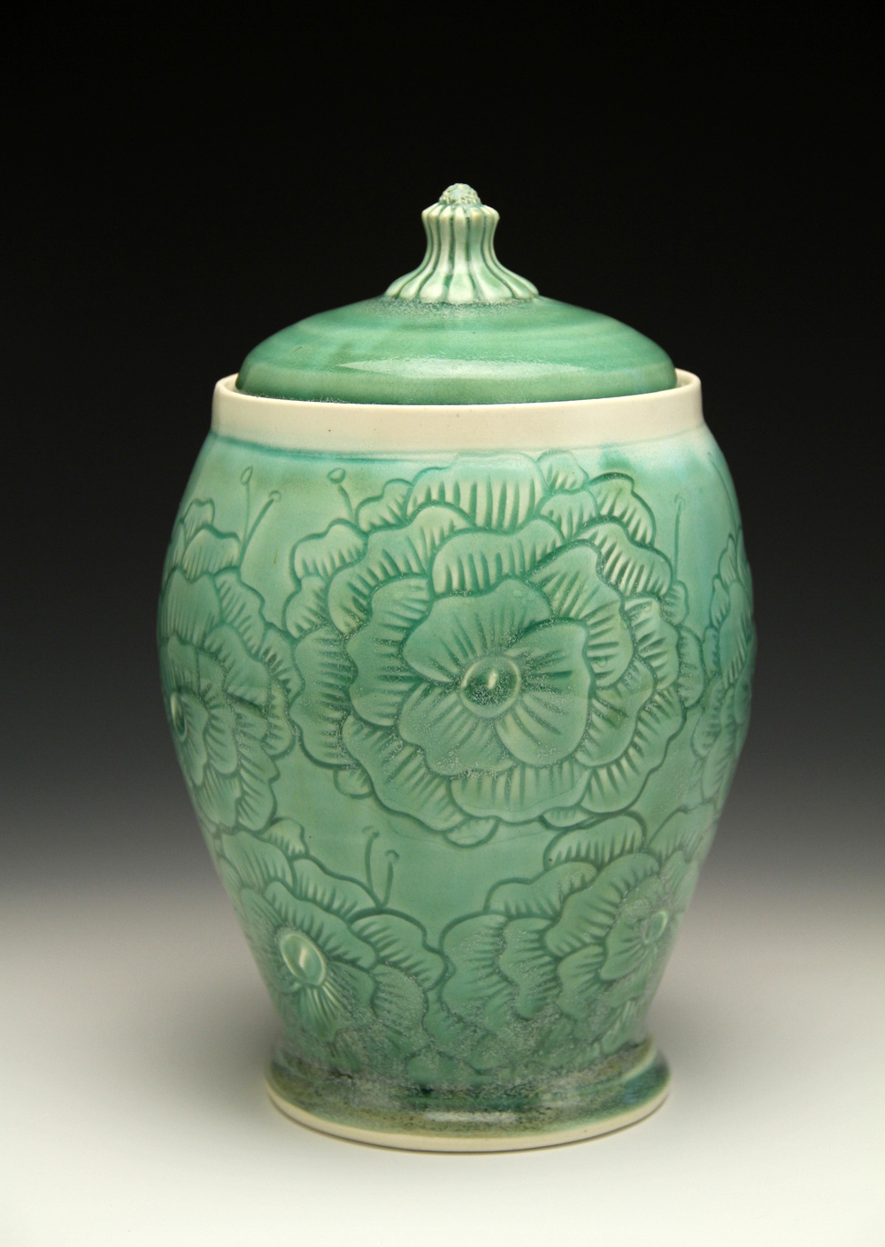 Green Floral Jar.jpg