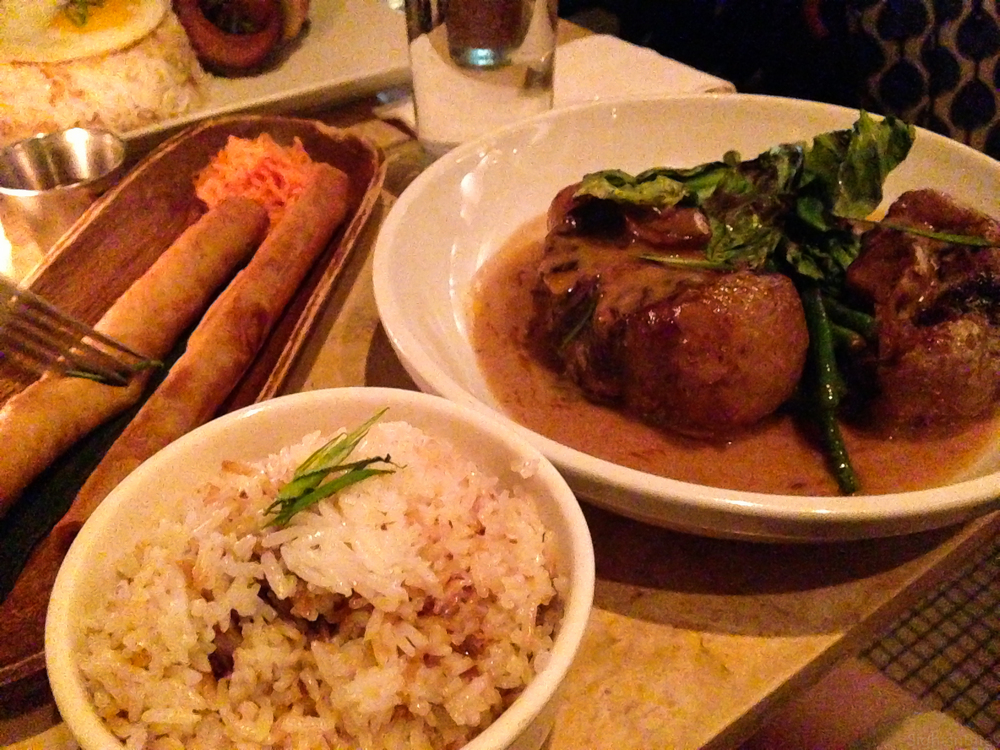 Garlic Rice and Kare Kare