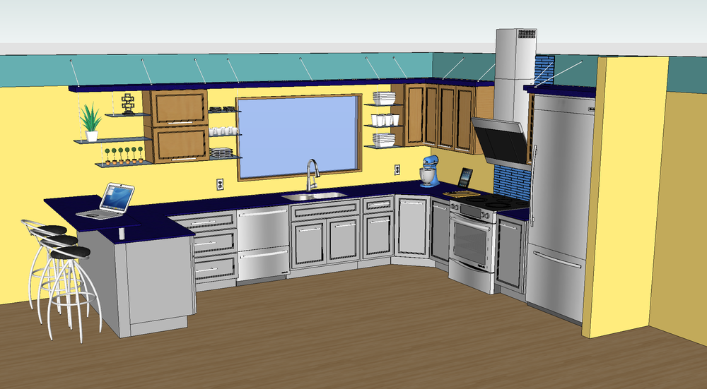 Google sketchup kitchen design image gallery sketchup kitchens Kitchen design software google sketchup