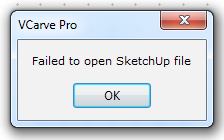 Fixe Vcarve Import With Sketchup 2015 Sketchthis Net