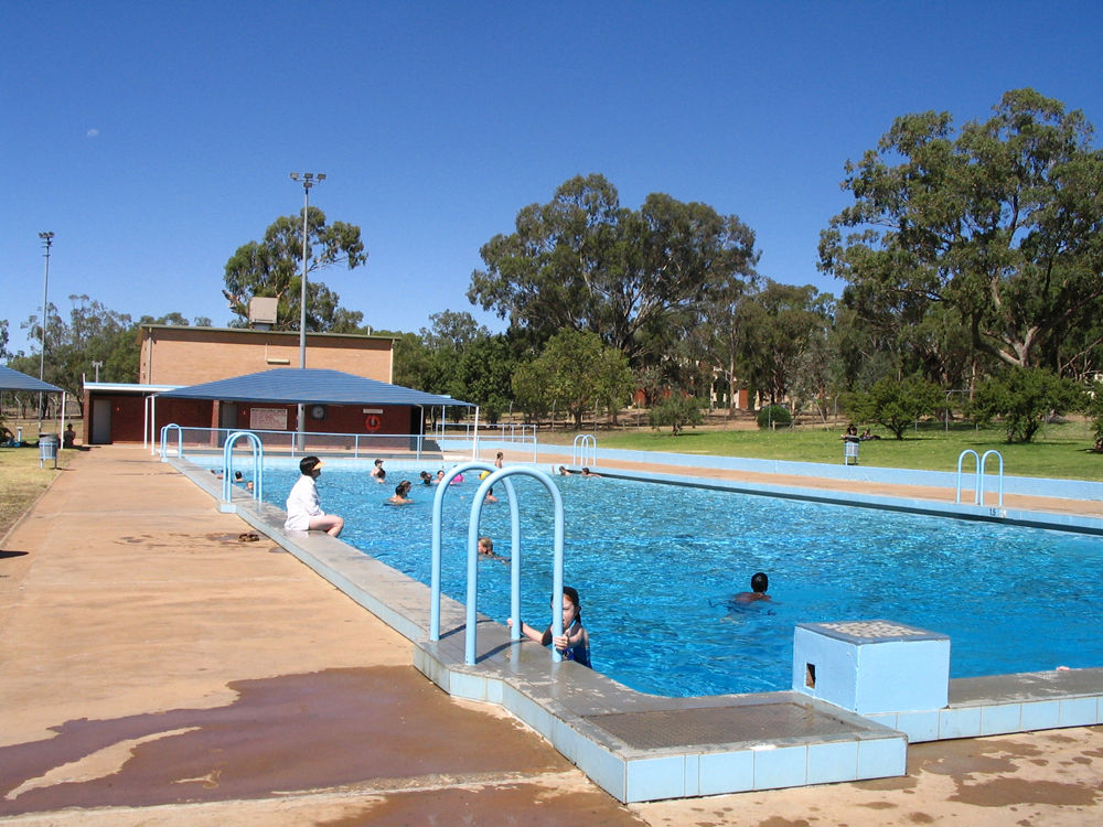 The pool: great for cooling off 4.00 - 6.00 pm