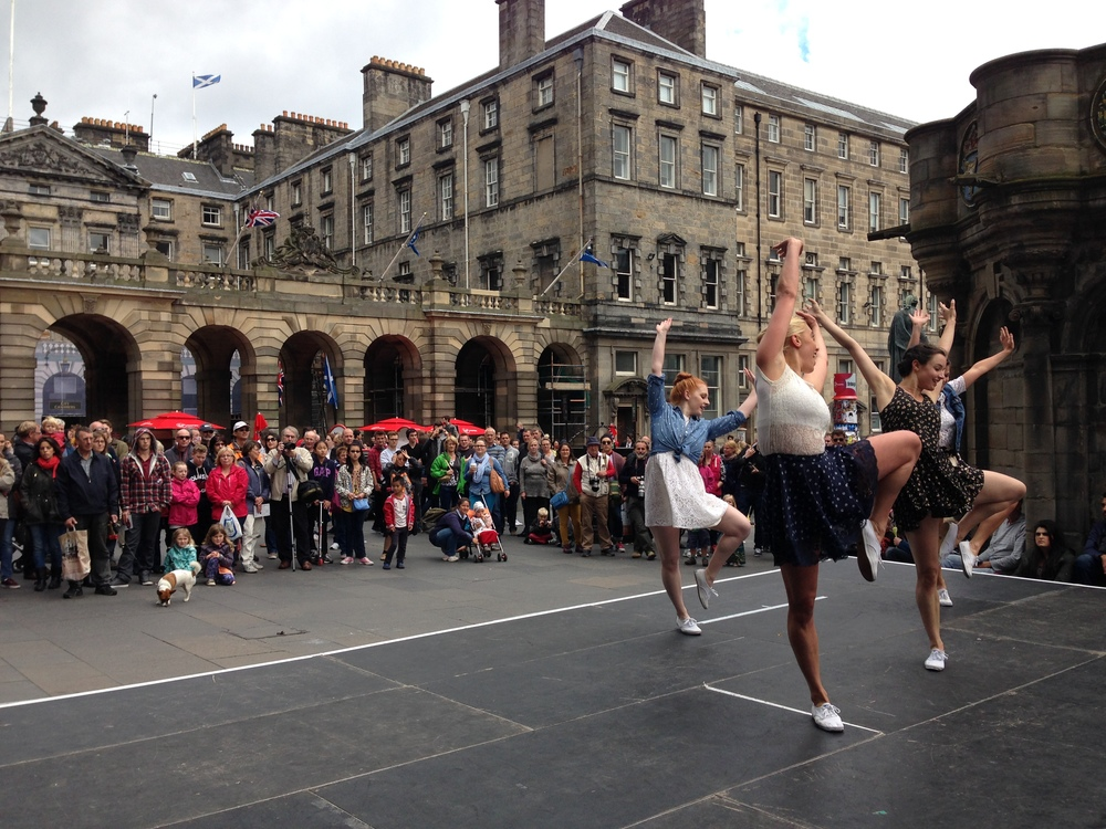 Performing on the Royal MIle with Booking Dance Festival