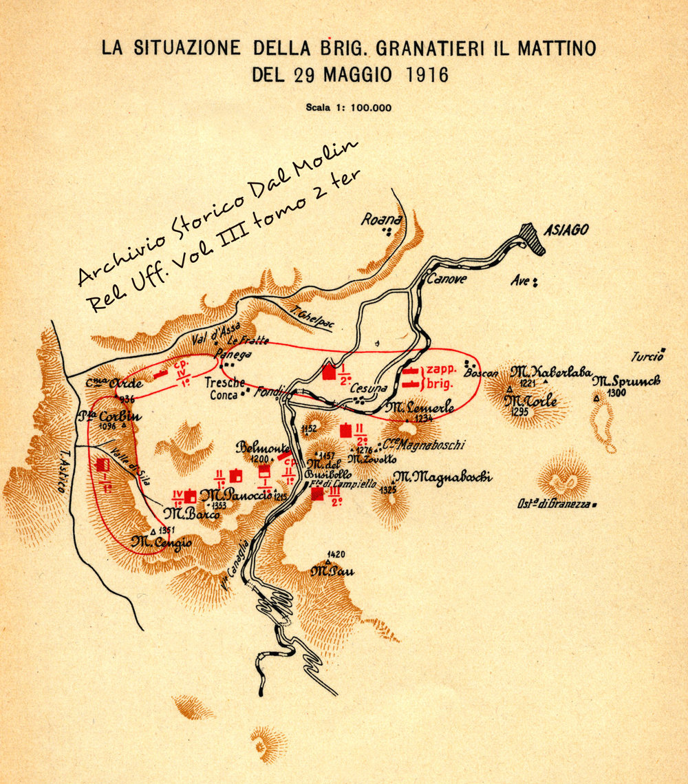 Da Relazione Ufficiale Italiana - Vol III tomo 2 ter (fonte: Archivio Storico Dal Molin)