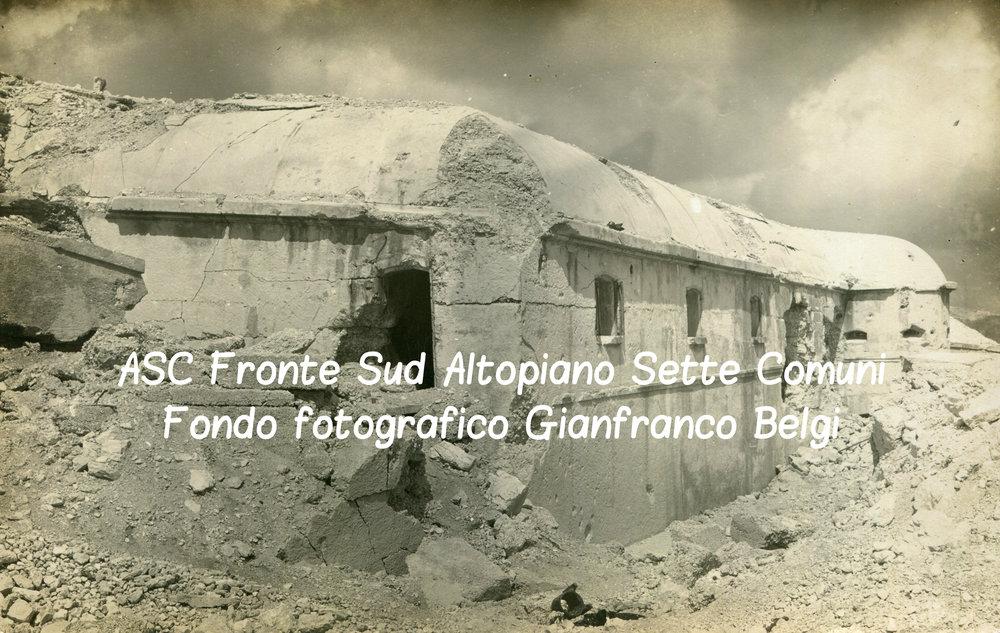Il forte italiano del Verena distrutto dalle artiglierie austro-ungariche nel 1915