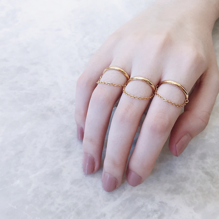 AU REVOIR LES FILLES SILVER STAR RING WITH DELICATE CHAIN GORGEOUS BEAUTIFUL LOVE SHINY CHRISTMAS GIFT FOR HER