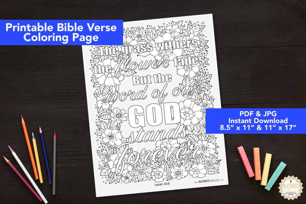 Bible Verse Coloring Book Page Isaiah 408