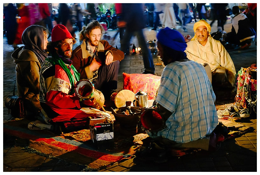 Taking Tea in the Jemaa el-Fnaa