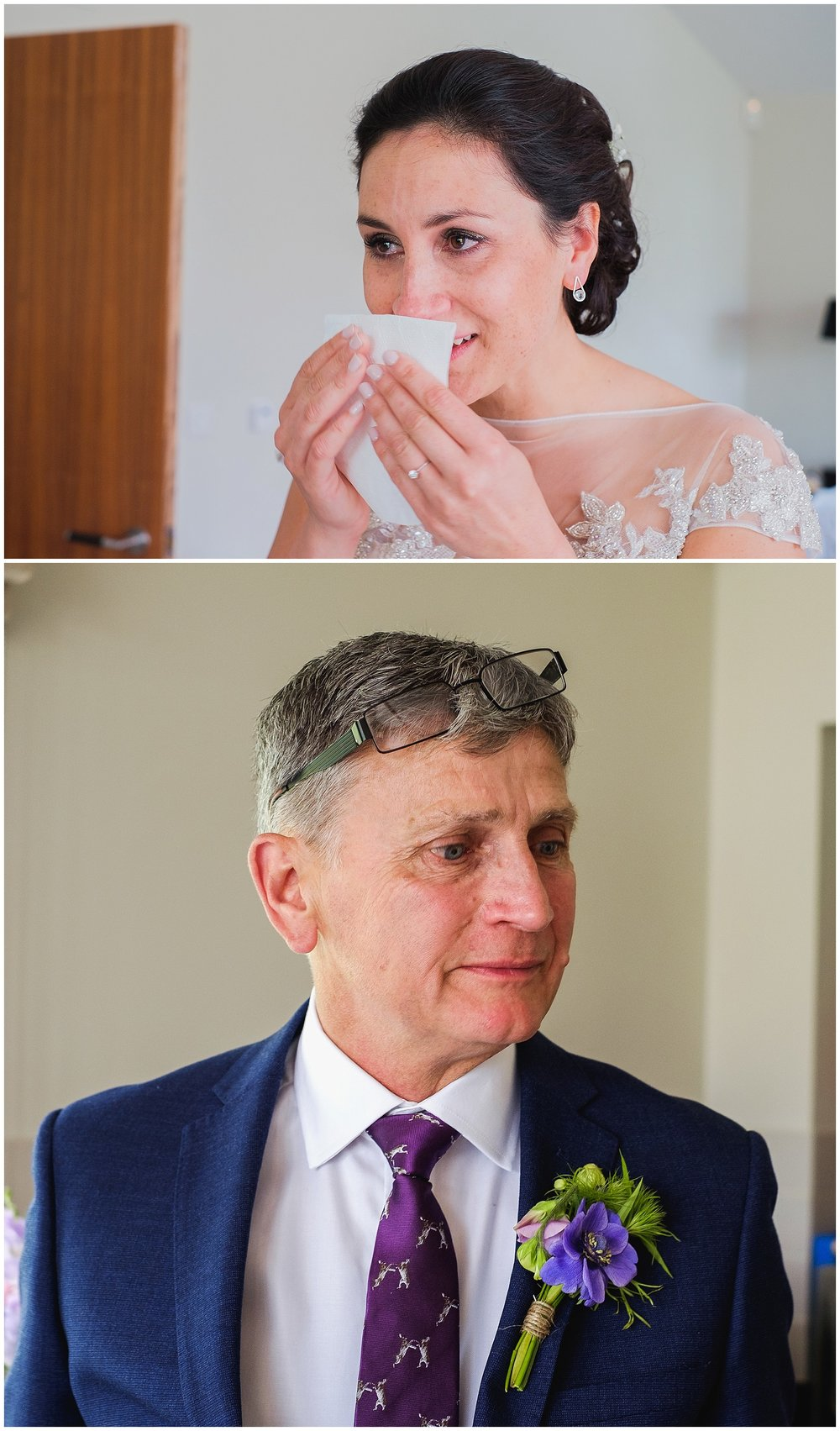 bride and Dad crying