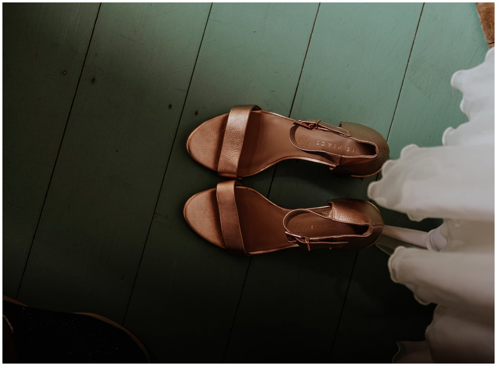 wedding shoes Cheshire Barn Wedding