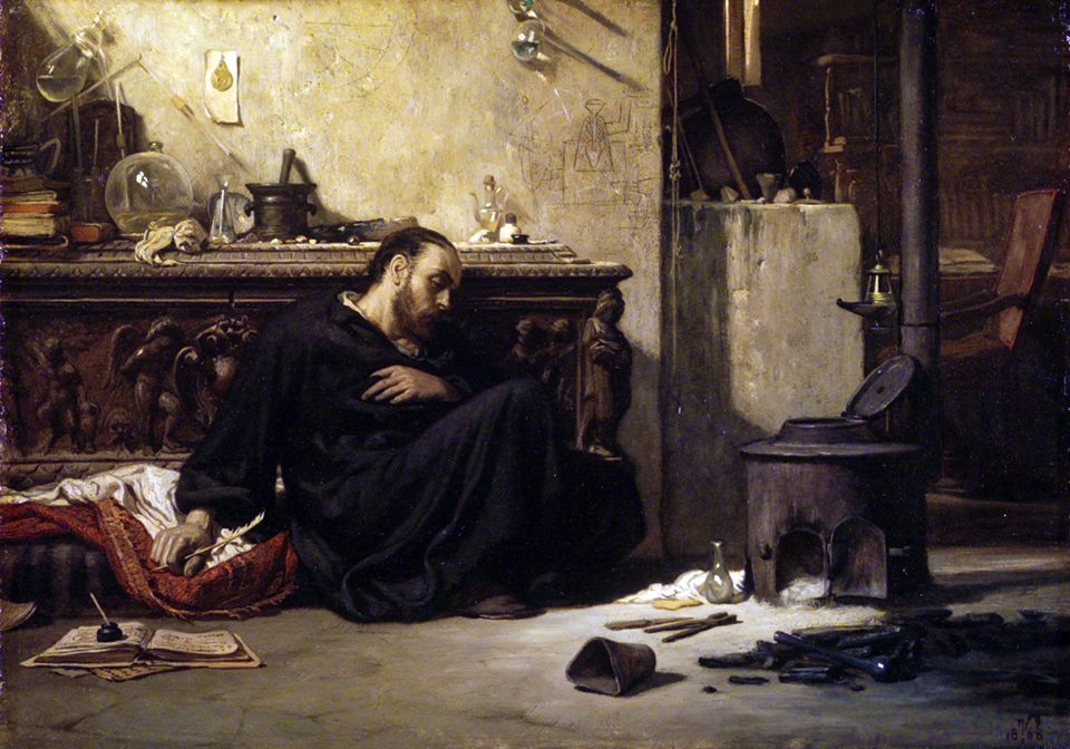 Elihu Vedder,  The Dead Alchemist , 1868.