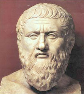 Plato. First century marble bust. Capitoline Museums, Rome.