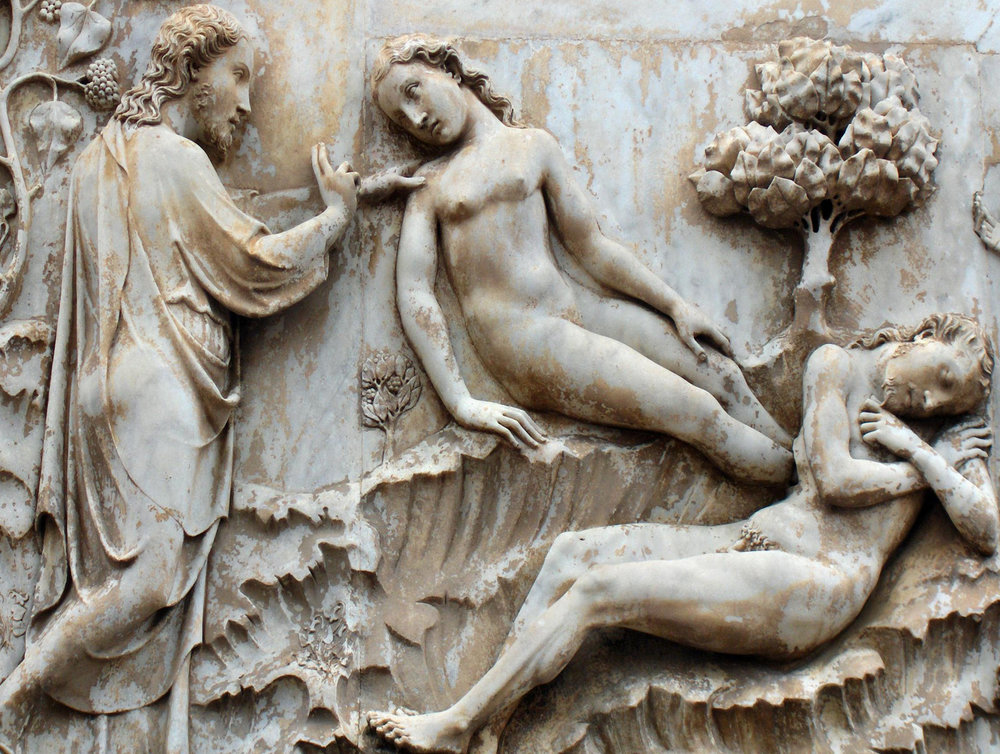 The Creation of Adam and Eve, Orvieto Cathedral, Italy.