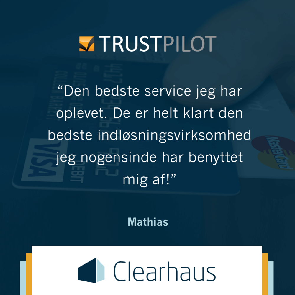 Clearhaus Trustpilot quote