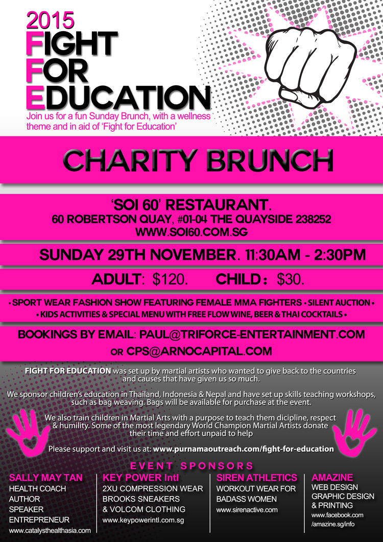 Singapore Event in Aid of Fight For Education Program - Purnama Outreach