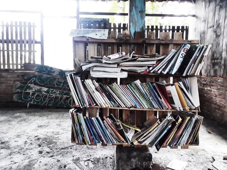2018 February - Library in the making, Desa Eco Logika - Indonesia