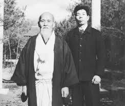 Morihei Ueshiba & Morihiro Saito