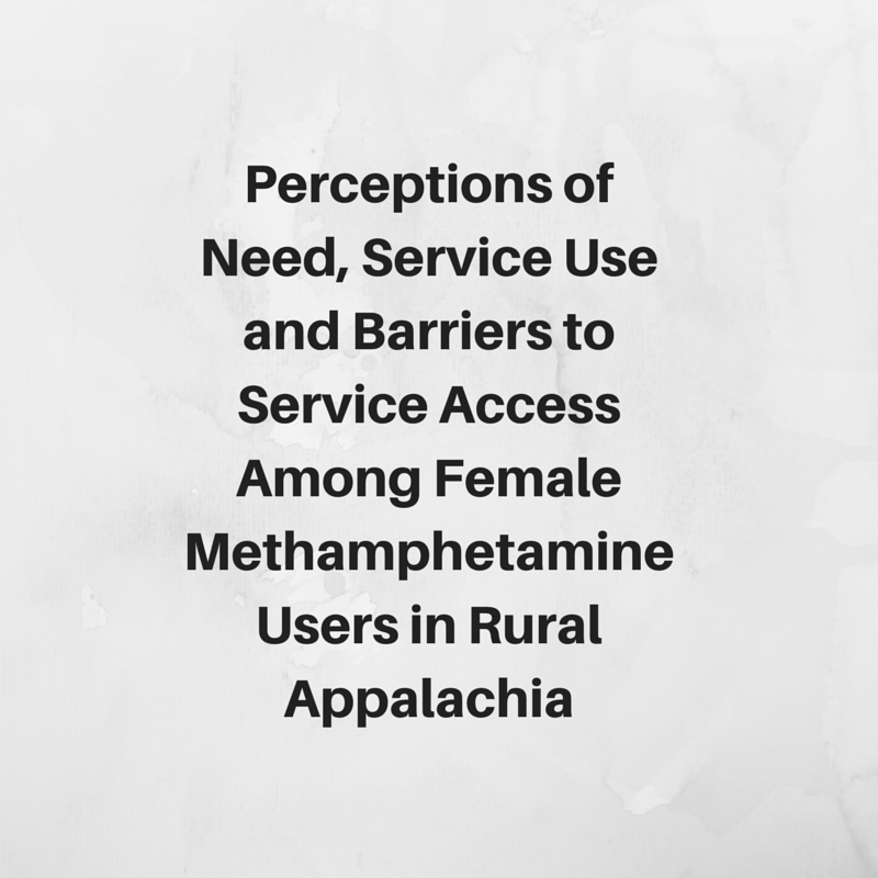 Perceptions of Need Service Use and Barriers to Service Access Among Female Methamphetamine Users in Rural