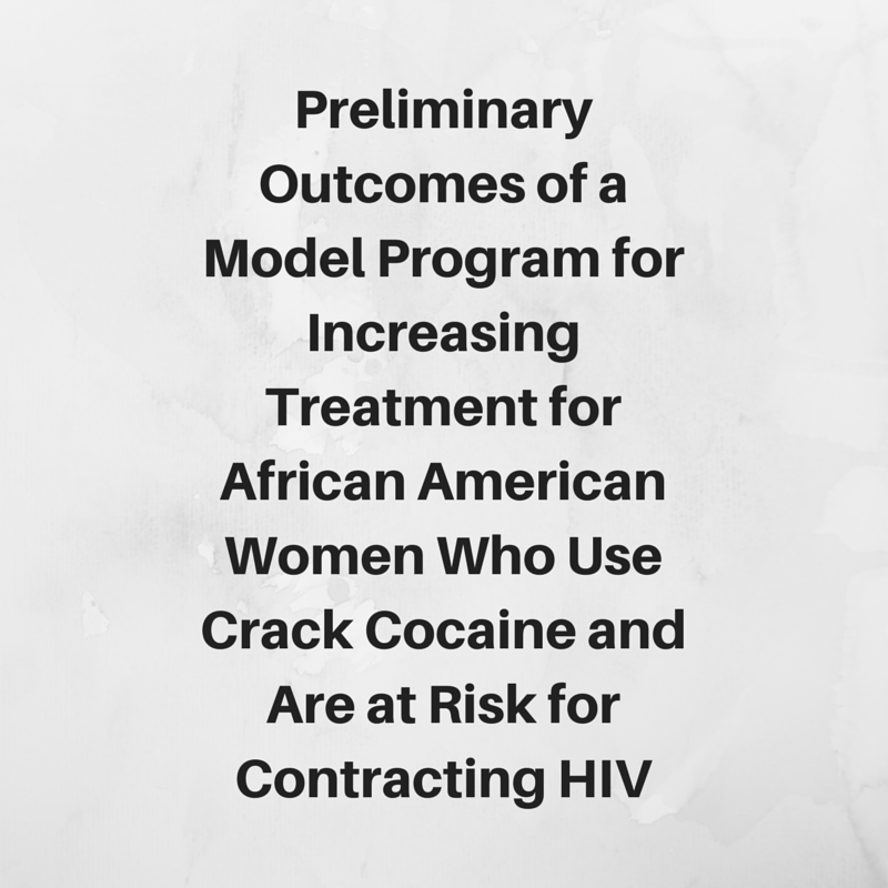 Preliminary Outcomes of a Model  Program for Increasing Treatment Access  for African American Women Who  Use Crack Cocaine and Are at Risk for  Contracting HIV