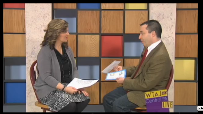 "12/30/13: WTAJ-TV (CBS) Topic: ""Advice for Strengthening Families in 2014"""