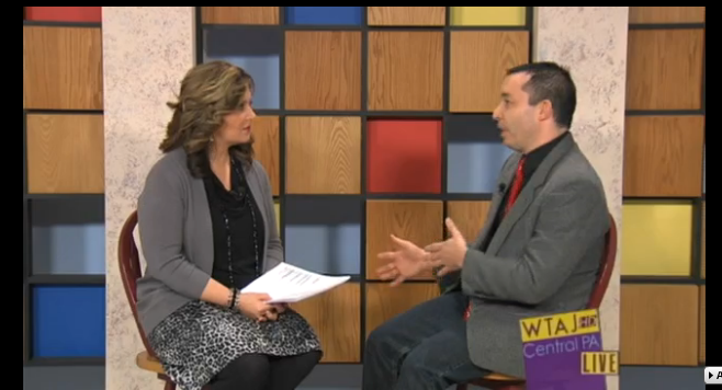 "12/13/13: WTAJ-TV (CBS) Topic: ""The Benefits of Giving"""