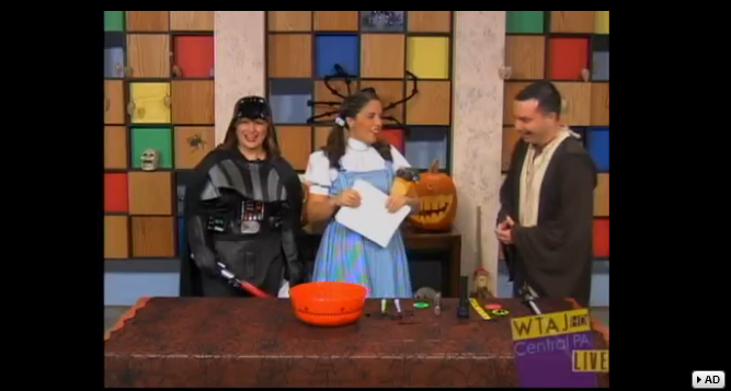 "10/31/13: WTAJ-TV (CBS) Topic: ""Trick or Treat Safety"""