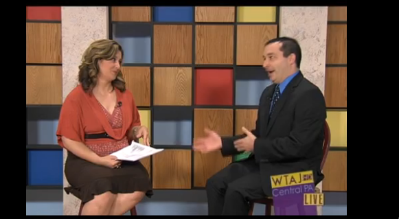 "9/27/13: WTAJ-TV (CBS) Topic: ""Helping College Homesickness"""