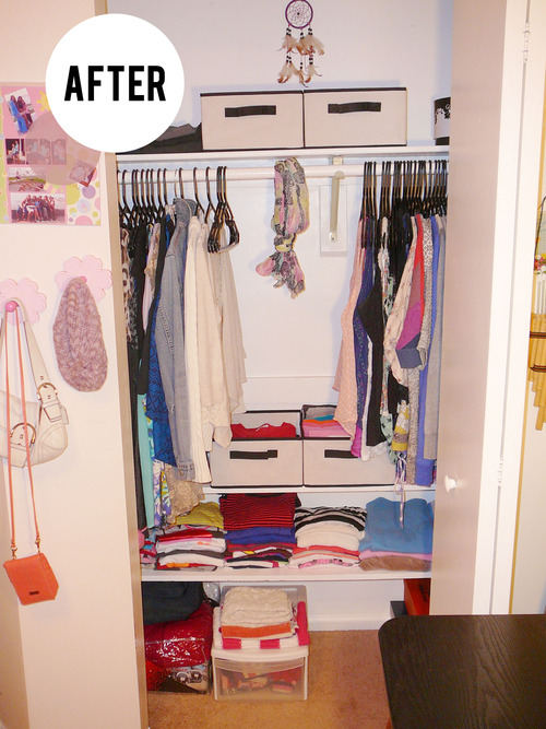 CLOSET ORGANIZATION - TEENAGE GIRL