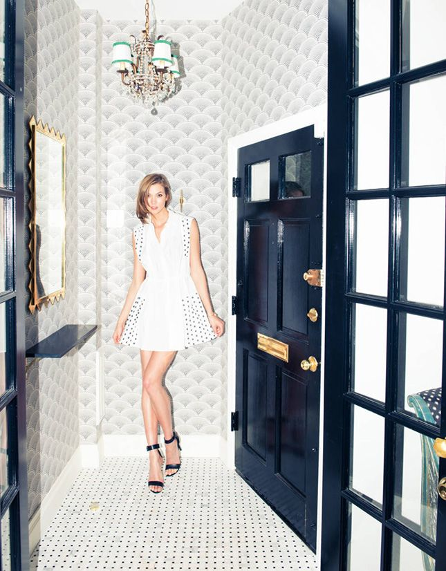 Design by Nate Berkus (Yeah, that's Karlie Kloss' foyer!)