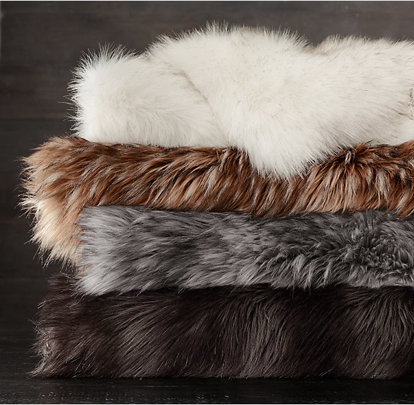 Restoration Hardware faux fur blanket