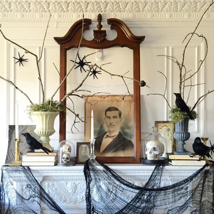 Fabulous mantel decor by  Design Dare Devil
