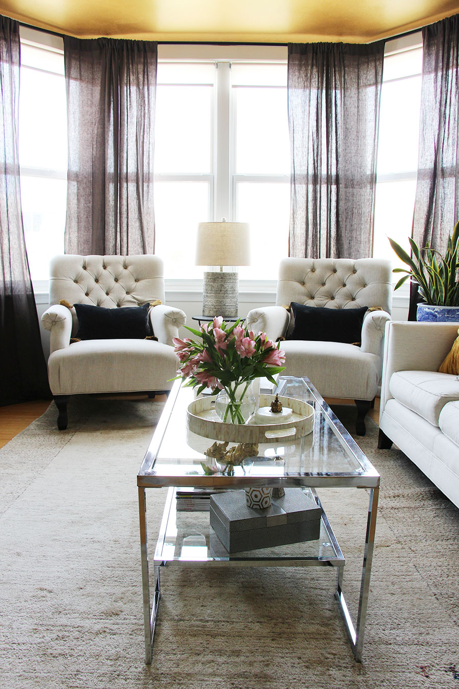 Chic Glam Decor Lifestyle Living Room Interior Design